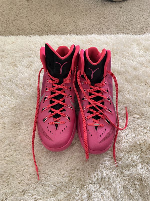 innovative design 76acb 5b1d0 Nike Hyperdunk 2014 Pink Fire Basketball Shoes Mens Sz 13
