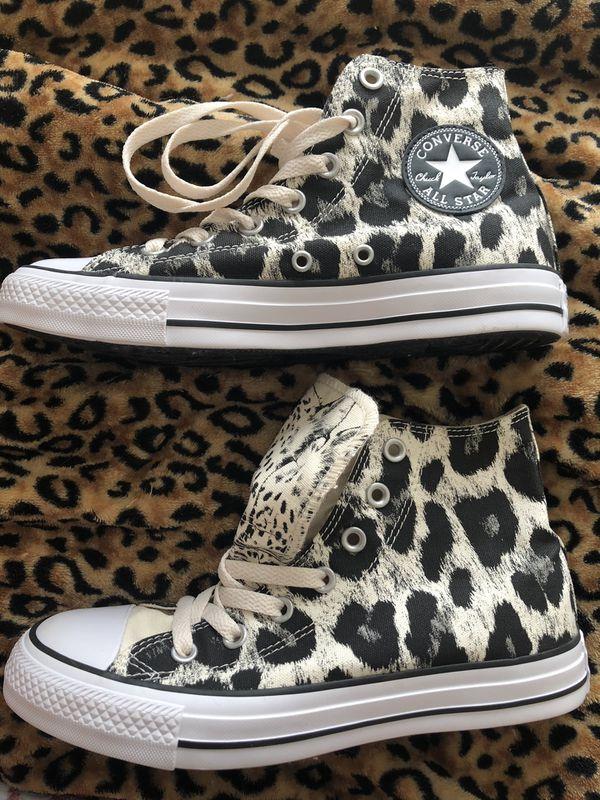 c7bb52b4fede Rare Converse leopard cheetah print high tops for Sale in Long Beach ...