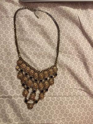 Photo Black & Gold Necklace