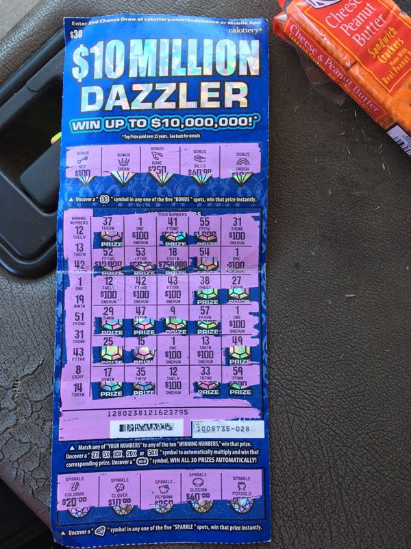 10 Million Dazzler($1,000 00 winner) for Sale in Barstow, CA - OfferUp