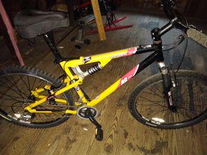 New K2 Attack2 full suspension mountain bike REI yellow for Sale in Brunswick, MD