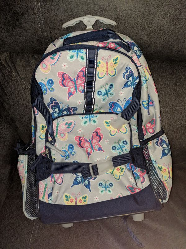 da78a7424bc8 Pottery Barn Mackenzie Gray Rainbow Butterfly Backpack for Sale in ...