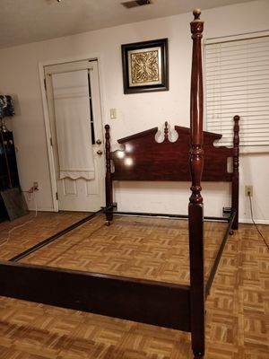 Queen bed frame in very good condition, pet free smoke free for Sale in Annandale, VA