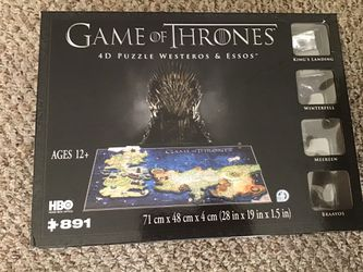 891 piece game of thrones 4D puzzle Thumbnail