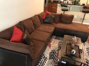 Sectional couch with chaise for Sale in Alexandria, VA
