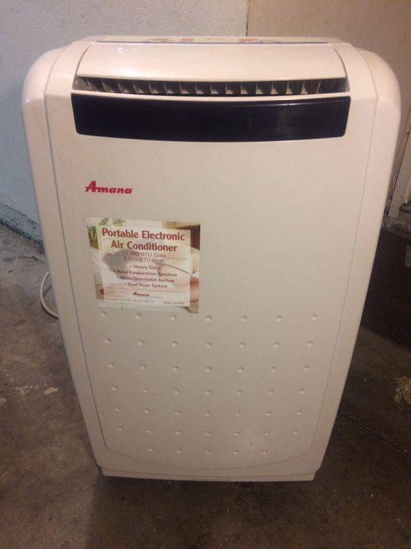Amana Portable Air Conditioner 12000 BTU AC 9500 Heat