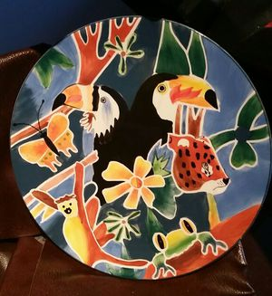 beautiful handpainted decorative plate for Sale in Alexandria, VA