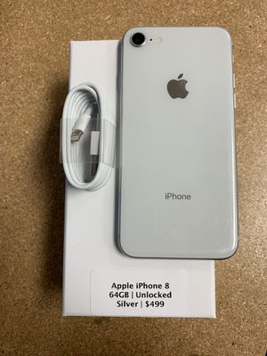 Apple iPhone 8 64GB Unlocked Silver for Sale in Fort Mill, SC