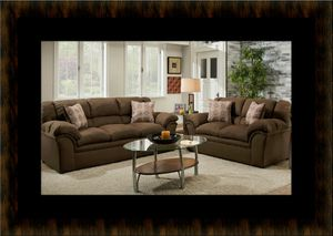 Chocolate fabric sofa and loveseat for Sale in Fairfax, VA