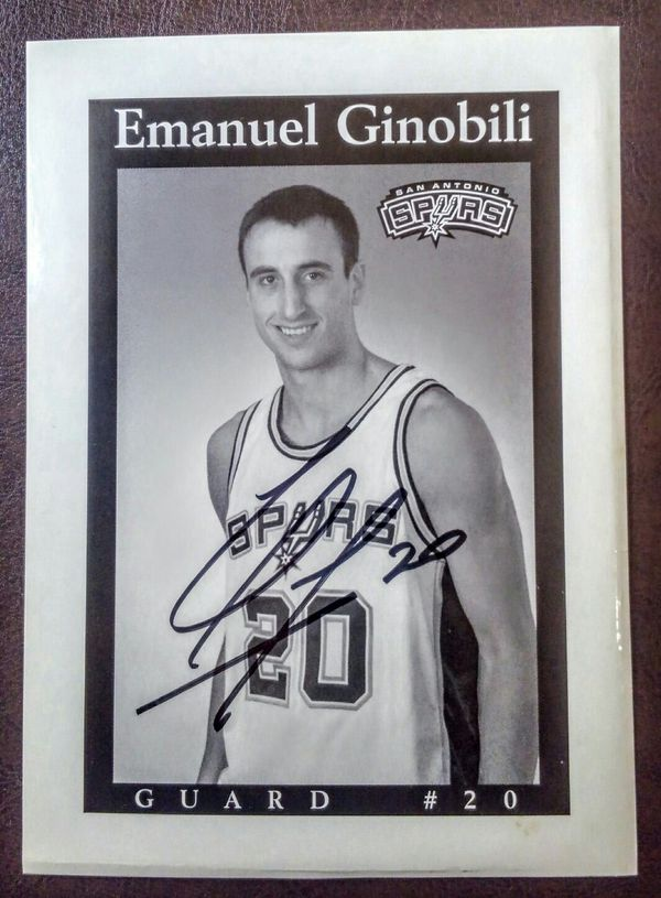 on sale cf6bb 86c38 Manu Ginobili Spurs Autographed 5x7 Photo for Sale in San Antonio, TX -  OfferUp