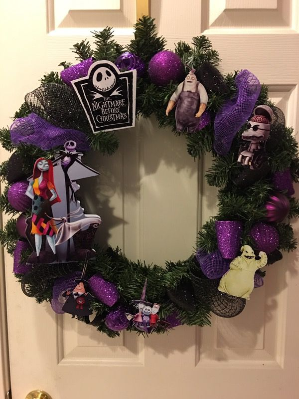 Nightmare Before Christmas Wreath For Sale In Suisun City Ca Offerup