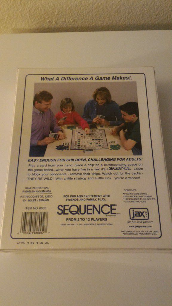 Sequence Game For Sale In Puyallup Wa Offerup