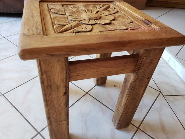 Rustic Hand Carved Coffee Table And 2 End Tables For In Phoenix Az Offerup