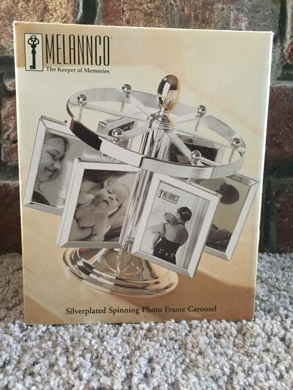 Melannco Silverplated Spinning Photo Frame Carousel (Photography) in ...