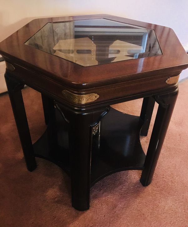 Solid Cherry Wood End Tables W Sofa Table Included For Sale In