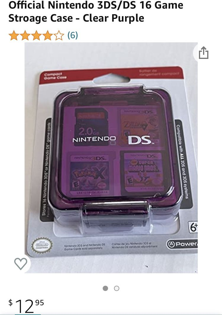 Nintendo 3DS Compact Game Case
