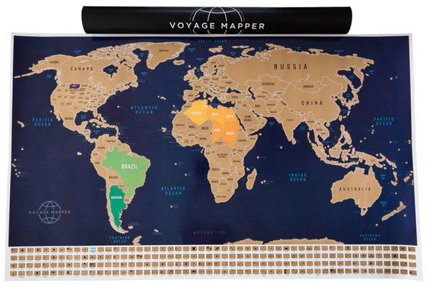 Scratch off world map for Sale in Desert Hot Springs, CA - OfferUp