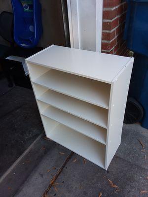 Firm price wood shelf storage for Sale in Durham, NC