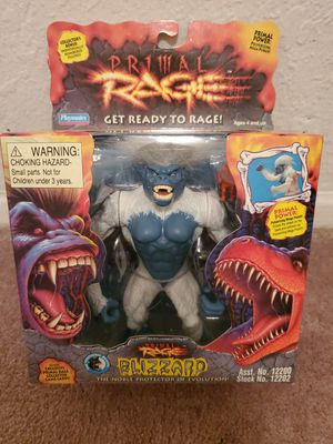 Photo New in Box Near Mint/Mint Condition Rare 1994 Playmates Primal Rage Blizzard Action Figure. Must Pick Up. Shipping Available.