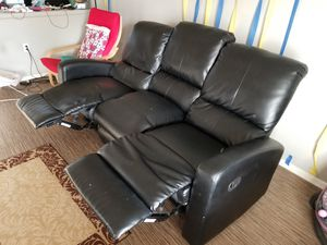 Sofa with recliner for Sale in Phoenix, AZ