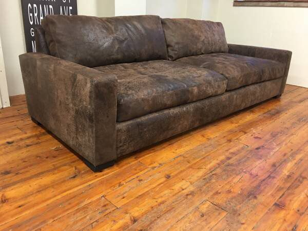 Restoration Hardware Maxwell Italian, Maxwell Leather Sofa