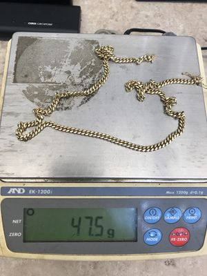 "14k cuban link chain 25"" for Sale in Kissimmee, FL"