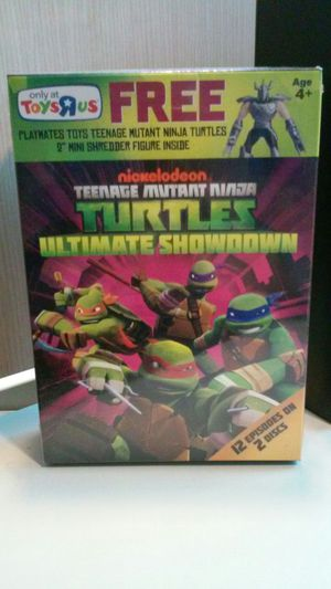 TMNT Ninja Turtles DVDs and Shredder Mini Figure RARE NEW!! for Sale in Chicago, IL