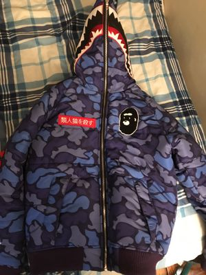 Purple Bape Coat/size small in men for Sale in Alexandria, VA