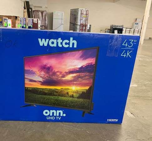 """Brand New 43"""" 4K ONN TV! Open box w/ warranty 9ID4T"""
