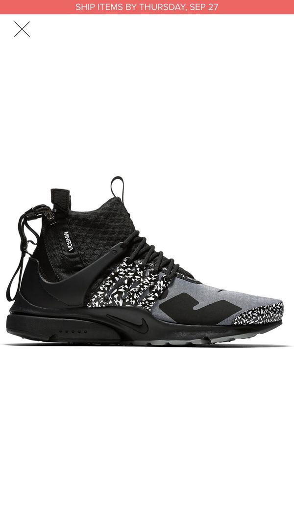 Nike Acronym Air Presto Black Grey size 12 for Sale in Los Angeles ... e849b795b3af