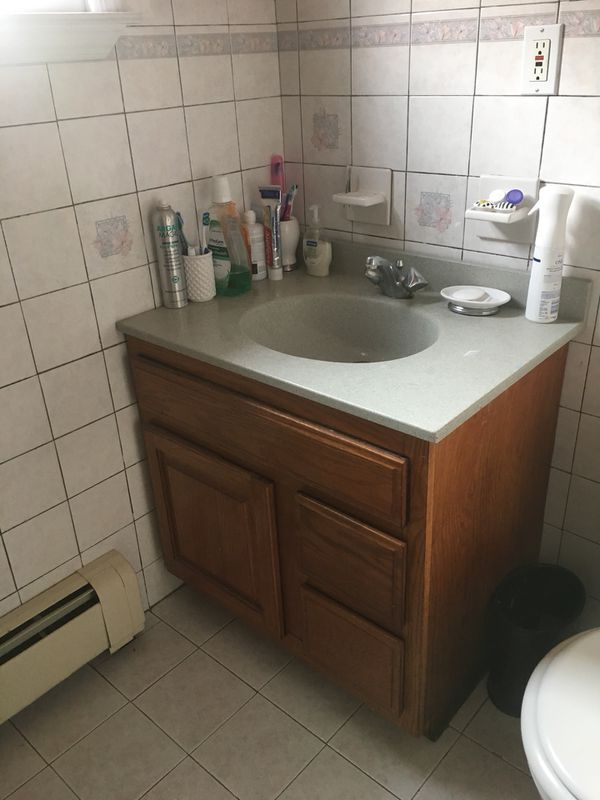 Used Bathroom Cabinet With Sink And Faucet For In Linden Nj Offerup