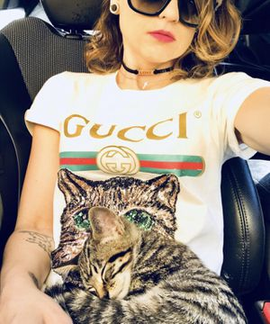 Gucci Catwalk Sequence Cat T-Shirt for Sale in Powhatan, VA