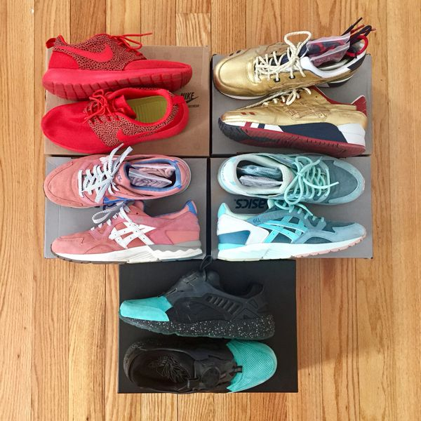 66657506daef Nike Roshe Run Safari Asics and Puma Kith Colab for Sale in Windsor ...