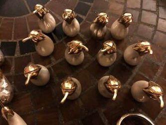 Joie de Vivre Brass & Silverplate Napkin Rings, Knife Rests, Name Holders Thumbnail