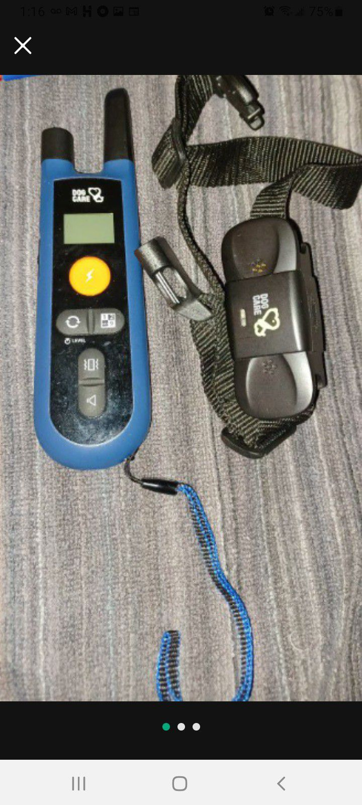Dog CareDOG CARE Dog Training Collar- Rechargeable Training Collar with 3 Training Modes and Waterproof Vibration