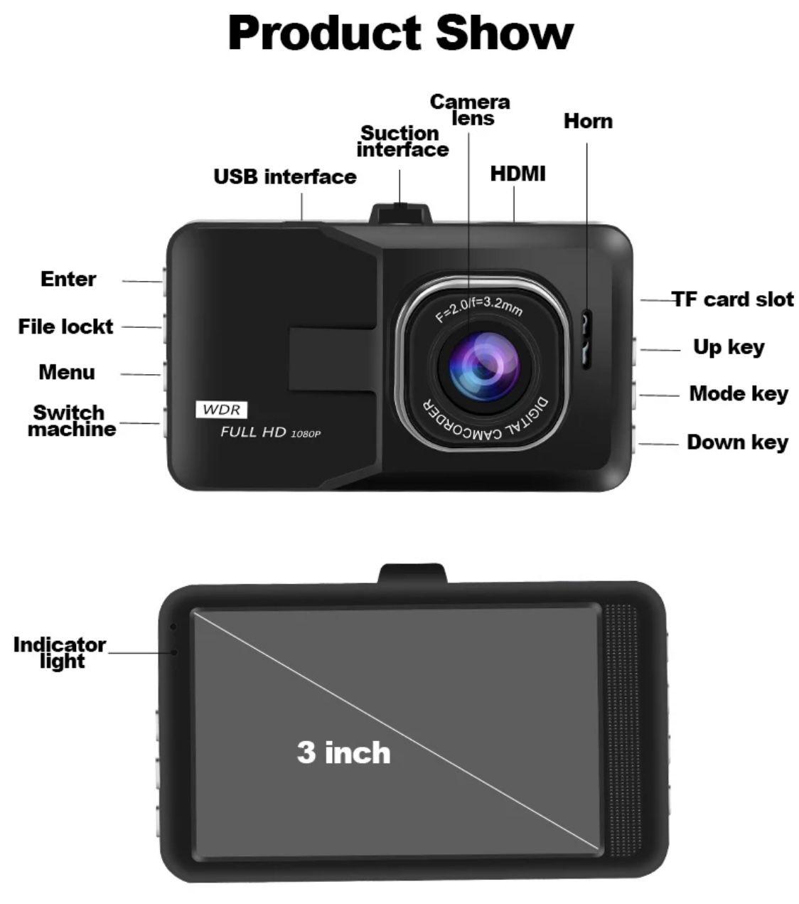 BlackBox Dash Cam for Vehicle.