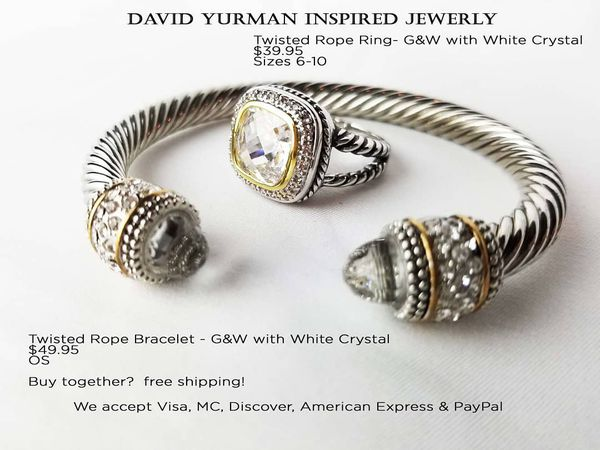 Bracelet And Ring David Yurman Inspired For In Alexandria Va Offerup