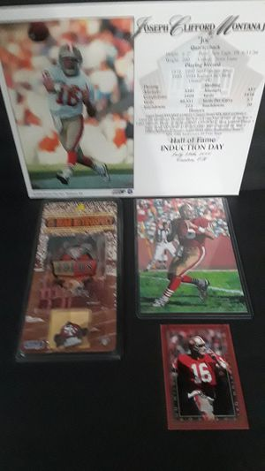 Photo San Francisco 49ers great Joe Montana sports memorabilia