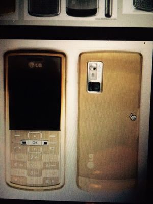 Gold bling...unlocked ultra slim phone. LG KE-770 unlocked. In box. for Sale in Sugar Land, TX