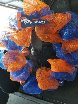 Broncos wreath for Sale in Denver, CO