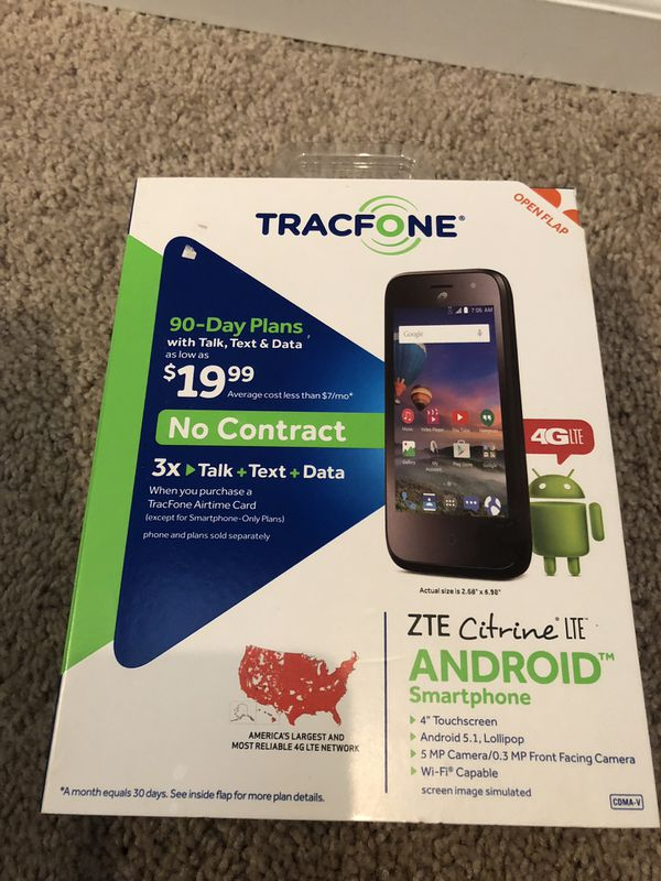 TRACFONE ZTE citrine LTE for Sale in Spanaway, WA - OfferUp