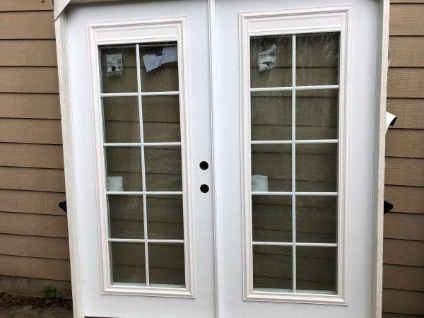 Brand new exterior french doors with built in blinds for - Exterior french doors with blinds ...