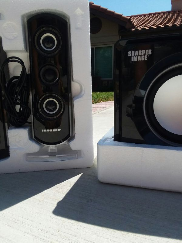 Bluetooth Speaker Sharper Image Led Light Tri Speaker System For