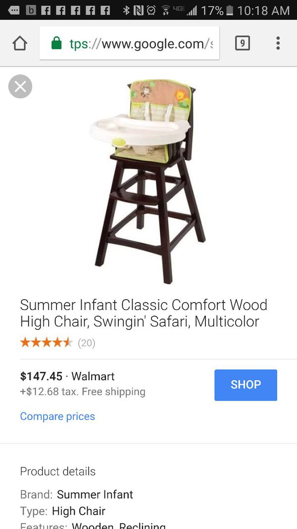 Summer Infant Wooden High Chair For Sale In Glendale Az Offerup