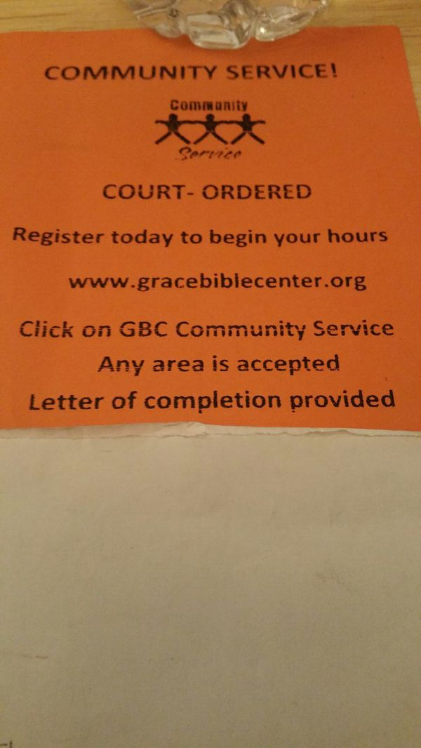 Court Ordered Community Service Completion Letter from images.offerup.com