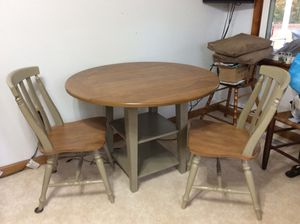 Drop leaf table & 2 chairs for Sale in Scottsville, VA