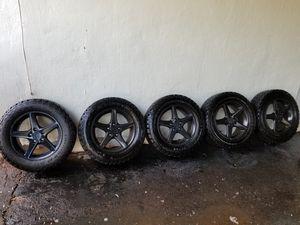 5) 215 65 16 general grabber at2 tires on rsx wheels. Plasti dipped black. for Sale in Manassas, VA