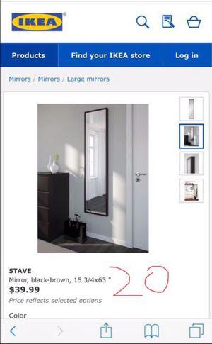 Wall/floor mirror for Sale in Fairfax, VA