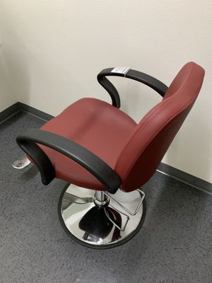Photo New Barber shop chair Salon Hair Styling Makeup Swivel hydraulic adjustable burgundy black or white color 350lb capacity best chair