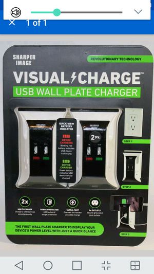 Sharper Image Visual Charger Usb Wall Plate Two Packs For Sale In